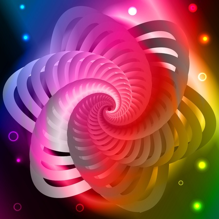 Graphic illustration of magic form over spectral background Vector