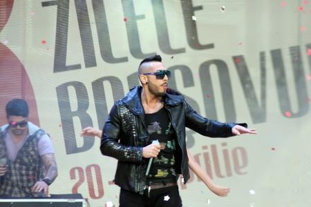 Brasov, Romania - 21.04.2012 - Alex Velea performing on stage in  Brasov Stock Photo - 13266549