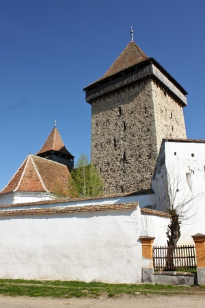 Homorod, Romania - 28.04.2012 - Fortified church from Homorod, Transylvania Stock Photo - 13575300