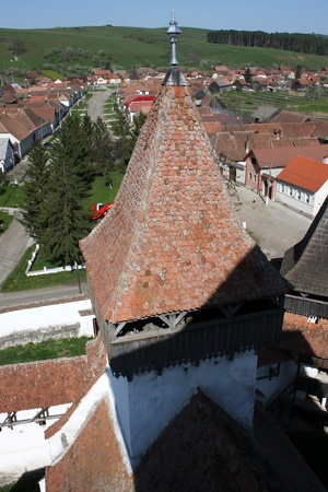 Homorod, Romania - 28.04.2012 - View over Homorod from the tower