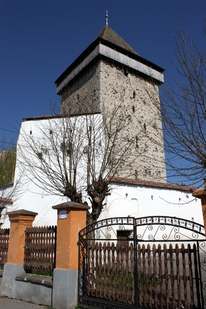 fortified: Homorod, Romania - 28.04.2012 - Fortified church from Homorod Editorial
