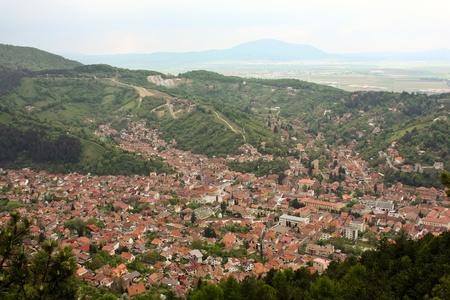 Neighborhood Scheii Brasovului seen from the air Stock Photo - 13525475