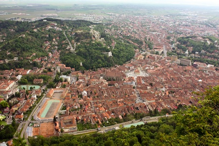 Panorama over Brasov city Stock Photo - 13525536