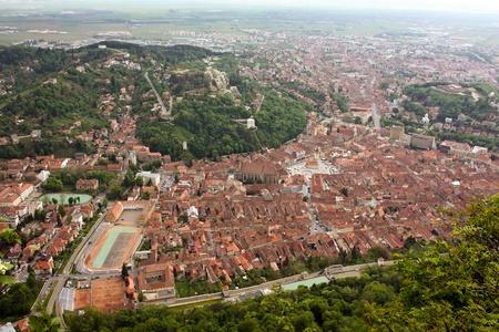 Panorama over Brasov city Stock Photo - 13525536