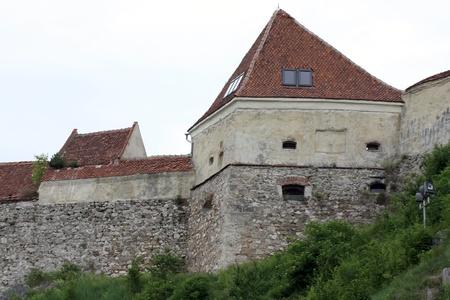 Rasnov, Romania - 13.05.2012 - Very old tower of Rasnov fortress Stock Photo - 13668724