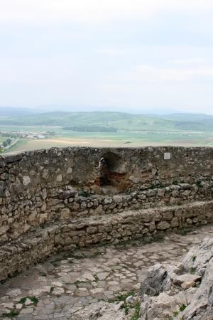 Rasnov, Romania - 13.05.2012 - Defensive wall of medieval fortress from Rasnov Editorial