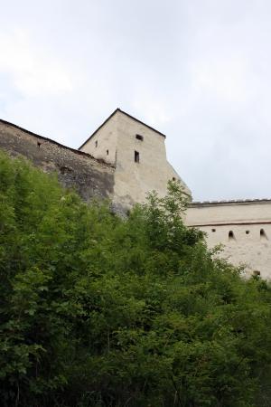 Rasnov, Romania - 13.05.2012 - Rasnov fortress ruins from Rasnov, Romania Stock Photo - 13668725
