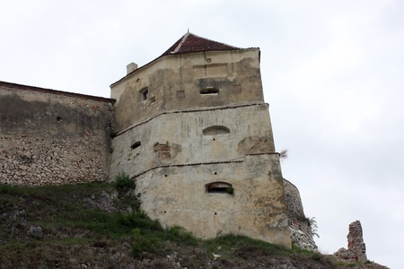 Rasnov, Romania - 13.05.2012 - Fortified walls of Rasnov fortress Stock Photo - 13668719