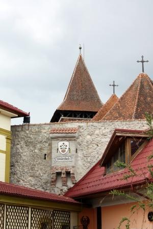 Ghimbav, Romania - 13.05.2012 - The roof of Evangelical church from Ghimbav Stock Photo - 13668747