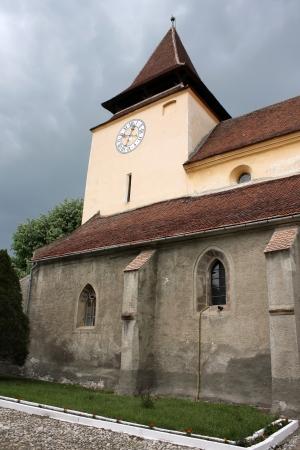 evangelical: Ghimbav, Romania - 13.05.2012 - Scene with Evangelical church from Ghimbav, Transylvania Editorial