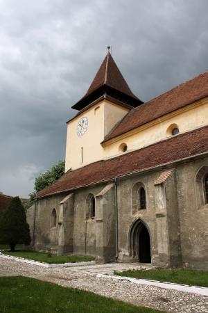 evangelical: Ghimbav, Romania - 13.05.2012 - Internal yard of Evangelical church from Ghimbav