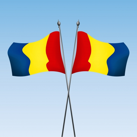 romanian: Graphic illustration of Romanian flags