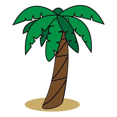 Graphic illustration of palm tree Illustration
