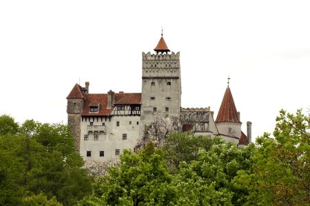 Bran, Romania - 20.05.2012 - Day scene with Bran castle from Transylvania