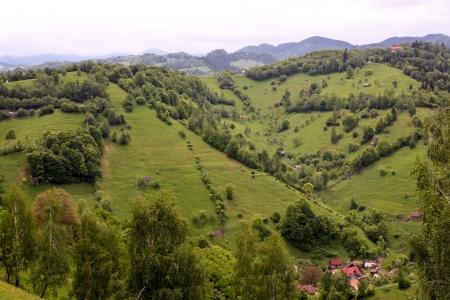 Beautiful landscape from Pestera village, Romania Stock Photo