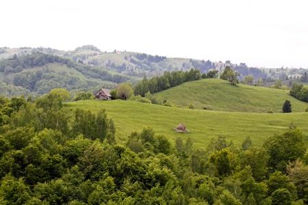 Rural scene from Romanian village