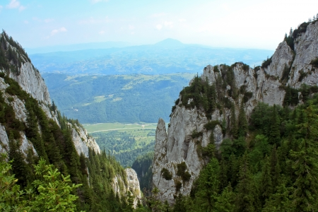 Scenery from balcony in Piatra Craiului Stock Photo - 14273013