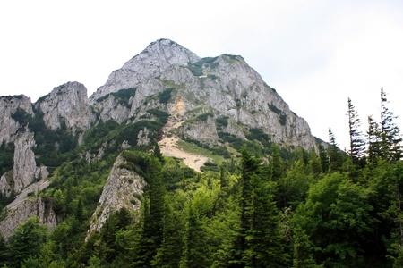 Mountain peak called Piatra Mica from Piatra Craiului photo