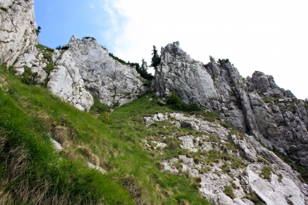 Scene from north ridge of Piatra Craiului mountains photo