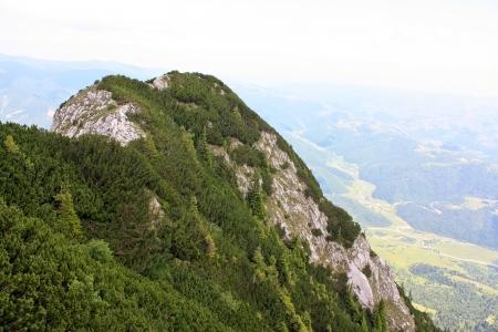 Stone cliff from Piatra Craiului photo