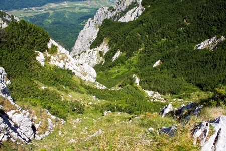 Precipice from Piatra Craiului mountains, Romania photo