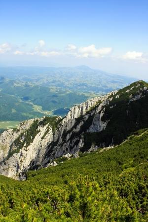 Wall of limestone of the bulky Piatra Craiului  photo