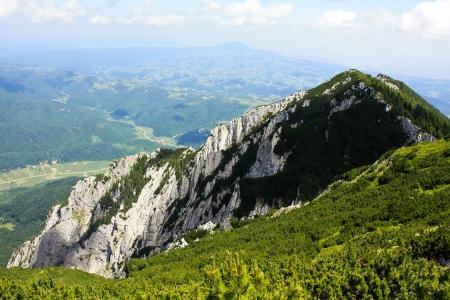 Scene with Padina Popii peak from Piatra Craiului photo