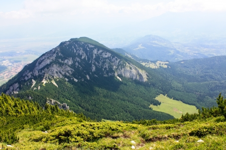 View to Small Stone peak from Piatra Craiului, height of 1816 meters  photo