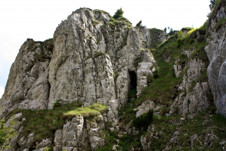 Rocky peak from Piatra Craiului mountains, Romania Stock Photo - 14365773