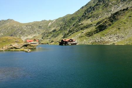 Glacial lake, called Balea from Romania photo