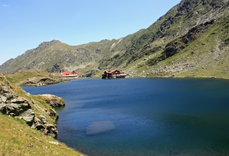 Balea chalet in Fagaras mountains photo