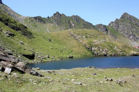 A part of Balea glacial lake in Fagaras mountains photo