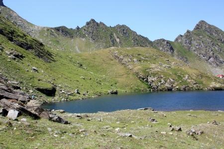 A part of Balea glacial lake in Fagaras mountains Stock Photo - 14541003