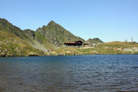 Glacial lake in Fagaras mountains, Balea glacial lake photo
