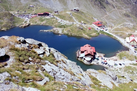 Balea glacial lake, Transfagarasan, Romania photo