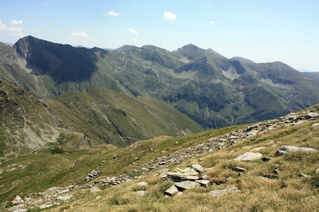 Mountain landscape in Fagaras mountains, Romania photo