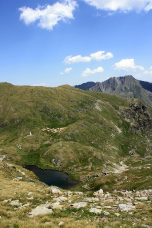 Goat lake in summer time, Romania photo