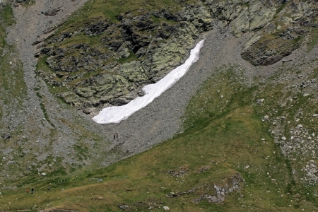 Snow in summer time, Fagaras mountains photo