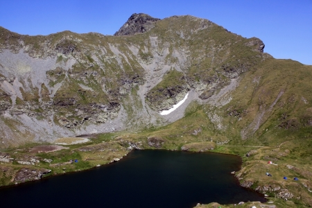 Goat lake from Fagaras mountains, Romania photo