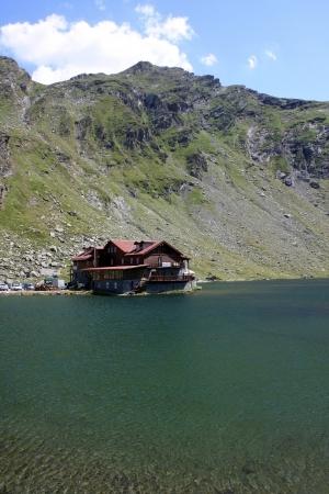 Chalet of Balea lake from Romania Stock Photo - 14540854
