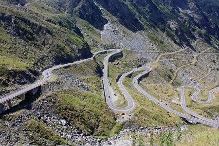 Difficult road of Transfagarasan from Romania