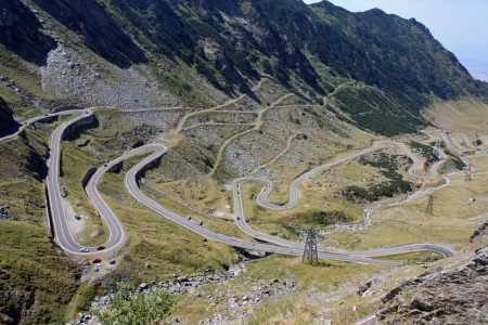 Landscape with Transfagarasan road in Romania photo