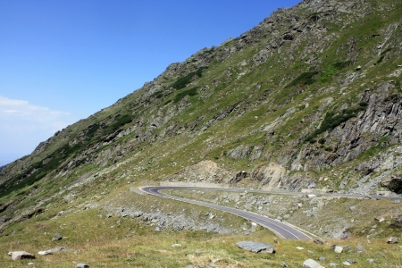 Very difficult road with many curves of Transfagarasan photo