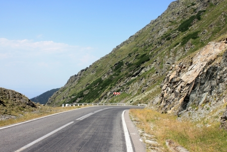Scene from difficult road of Transfagarasan, Romania photo