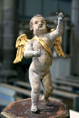 cistercian: Traditional sculpture of angel in cistercian style Stock Photo