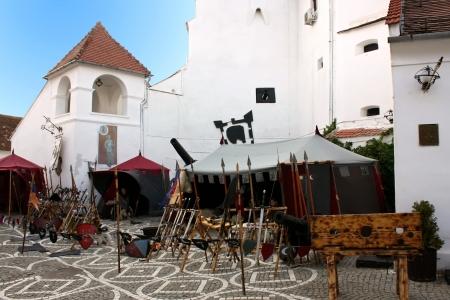 strategically: Brasov, Romania - August 04, 2012 - Scene from stonghold festival, Brasov - Romania Editorial