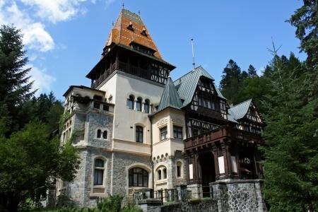 Sinaia, Romania - August 15, 2012 - Pelisor Castle in Sinaia Romania Europe