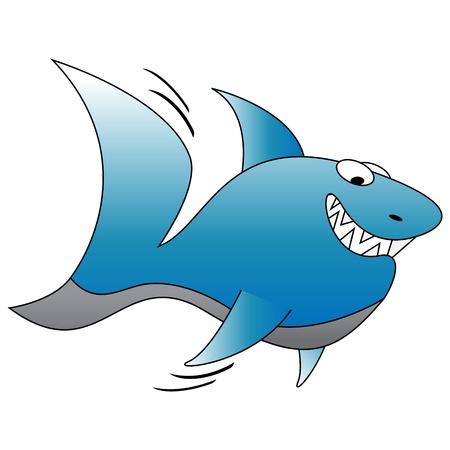 Graphic illustration of funny shark