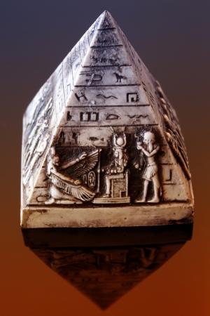 scribes: Macro scene of decorative pyramid