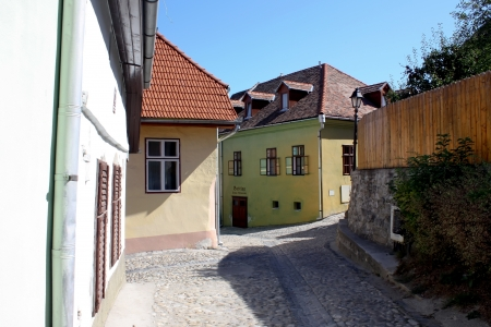 medieval blacksmith: Sighisoara, Romania - 01.09.2012 - Beautiful streets from old part of Sighisoara fortress